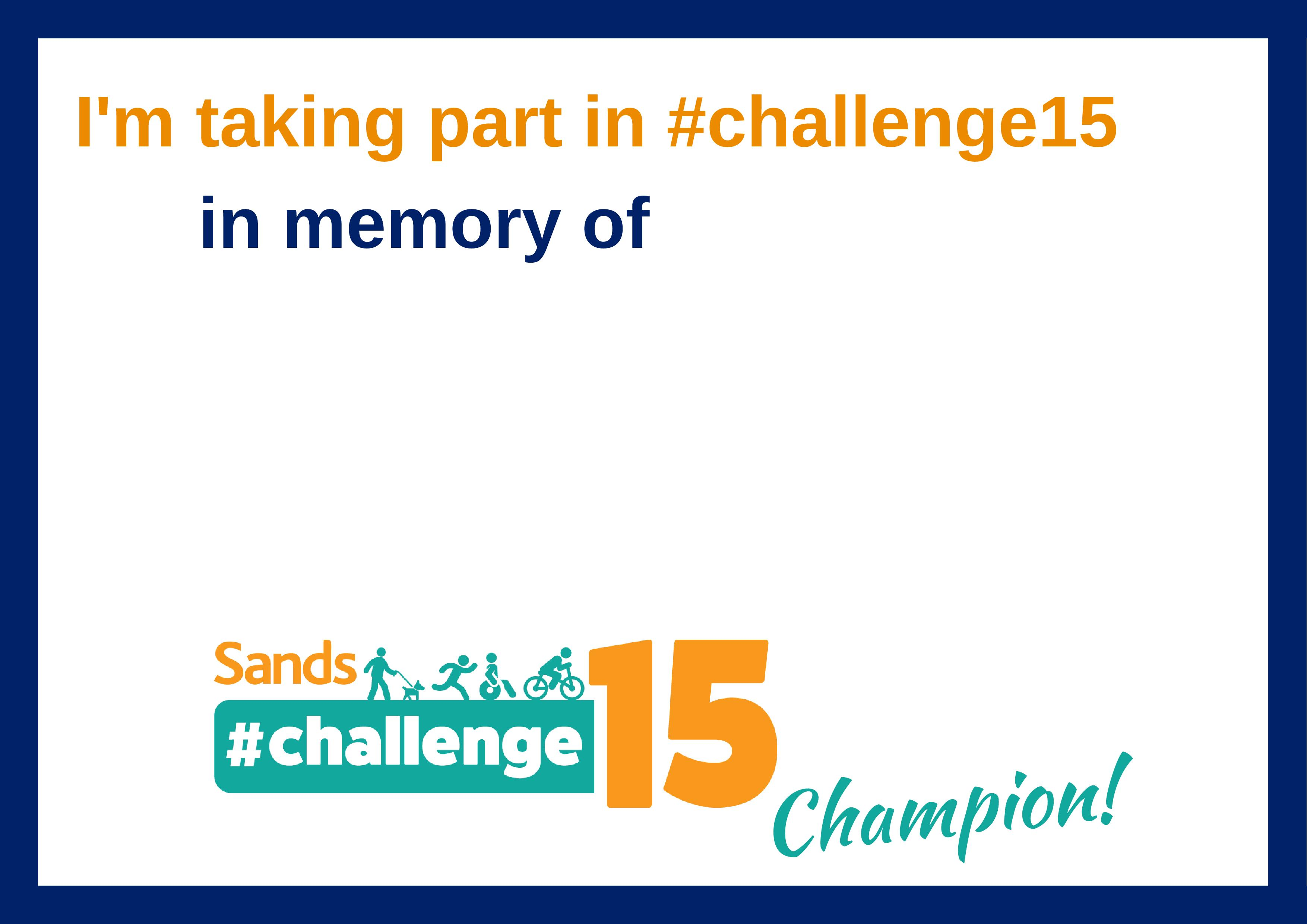 #challenge15, in memory of