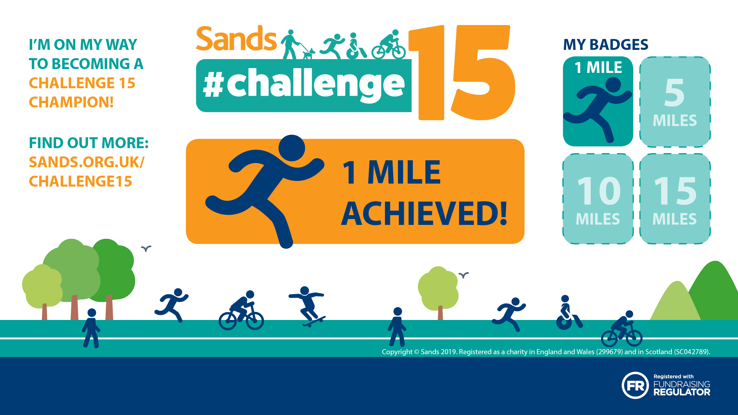 #Challenge15 - 1 mile badge - Twitter