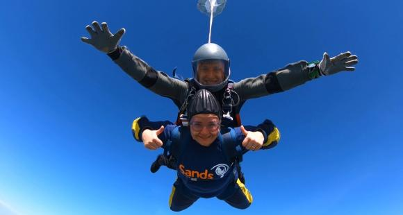 Shirley Reynolds took part in a Skydive